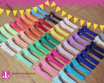 100 - YOU PICK - Partially Lined Alligator Clips, wholesale clips