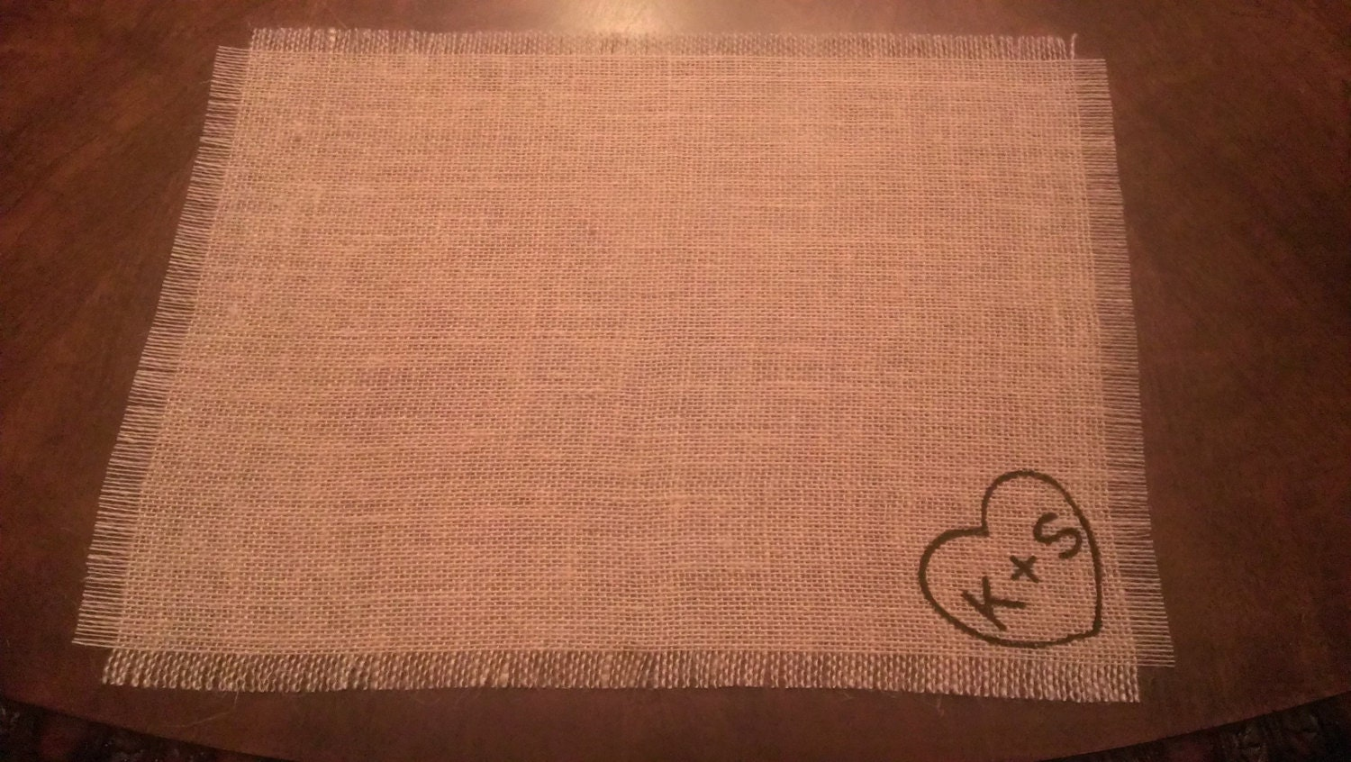 Wedding Table Decor Wedding Burlap Placemats By