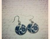 Paisley cabachon earrings dangle cute