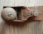 Rare 1876 Stanley wood plane tool Montana homestead antique liberty bell planer cast iron rustic collectible