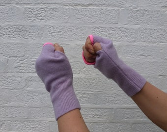 Ladies handwarmers eco gloves womens fingerless gloves teens winter mittens ladies handmade gloves winter eco purple gloves wool mittens.