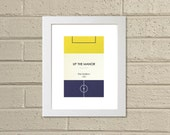"Book Clubs: ""Oxford"" A4 Football Print in yellow and blue."