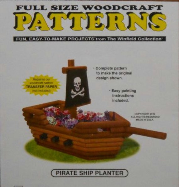 Pirate Ship Flower Planter Woodcraft Pattern
