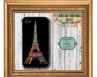 Eiffel Tower iPhone Case, Paris iPhone Case, Plastic iPhone Case, iPhone 4, iPhone 4s, iPhone 5, iPhone 5s, iPhone 5c, iPhone 6, iPhone Case