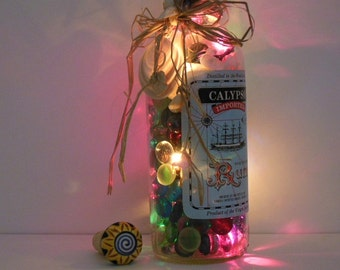 Bottle Lights - Upcycled Glass Bottle  - Liquor Bottle Lights