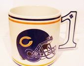 Vintage Chicago Bears Football Mug Cup
