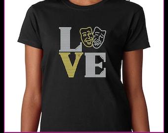 Love Square Drama / Performing Arts  Rhinestone T-shirt