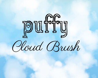 Puffy Clouds - Photoshop Brush Set