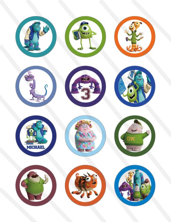 Monsters Inc Cake Toppers Uk