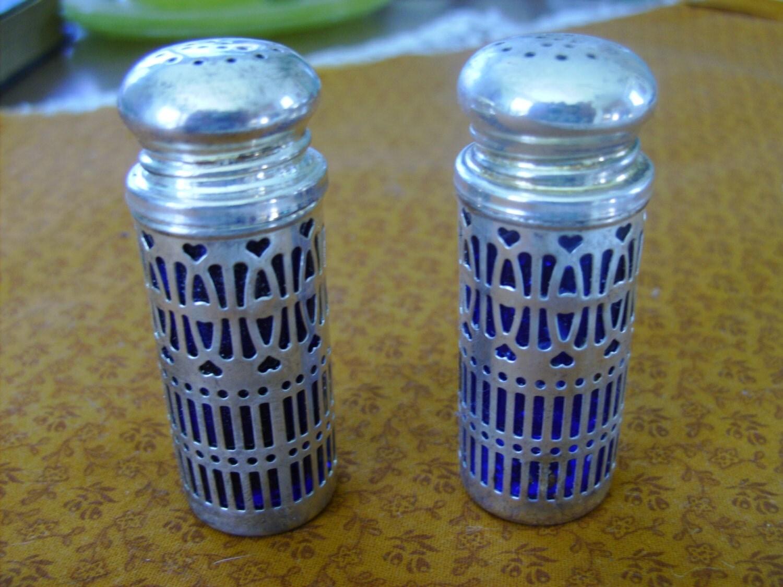 Cobalt Blue Salt And Pepper Shakers