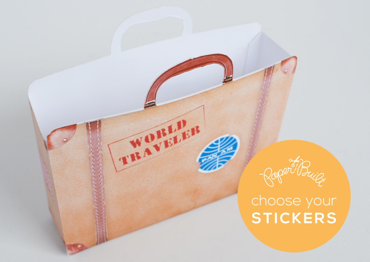 Wedding Gift Bags Toronto : Printable and Customizable Vintage Suitcase by PaperBuiltShop