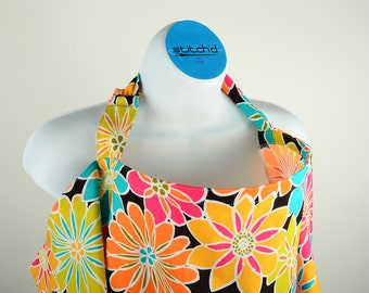 Nursing Cover - Bright Graphic Floral - Multicolored