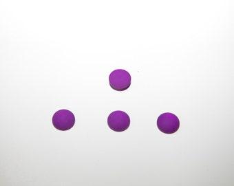 4 X 12mm of Polaris cabochon purple