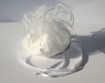 10 Organza bag / jewelry bag 26 cm in diameter OS006