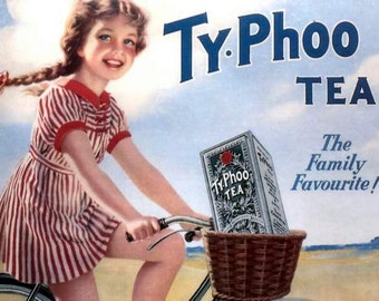 Kitchen Art:  Ty-Phoo Tea 1950s Poster - Print