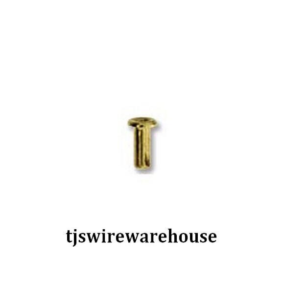 Hollow Rivet Setting Tool : Brass rivets hollow eyelet choice of size pcs
