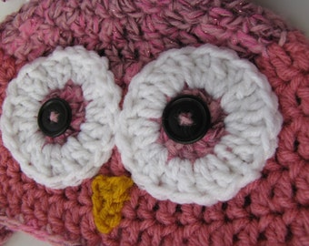Baby Owl Hat  Earflap hat ready to ship