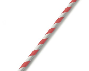75 Candy Striped Paper Straws - Party and Wedding Straws - Colored Straws