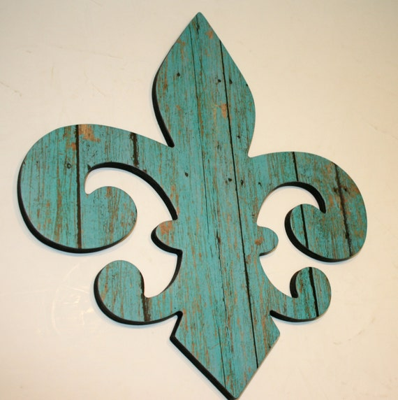 Coastal Decor Shabby Chic Fleur De Lis Wall Decor Barnwood