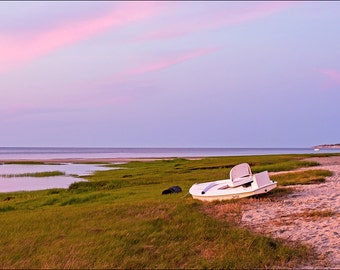 Marsh Sunset Cape Cod Summer Beach Landscape 12x18 Fine Art Print