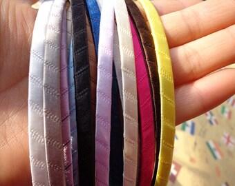 SALE--10PCS (mix colors)Plain Satin Covered Headband 5mm Wide