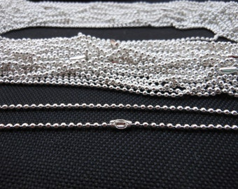 SALE--20 pcs Silver plated Ball Chain Necklaces - 27inch, 2.0 mm