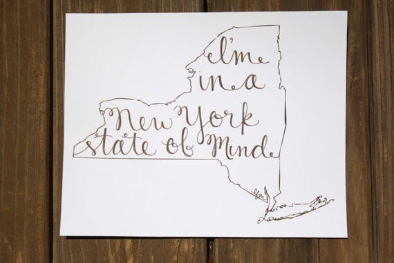 New York: NY State of Mind Print