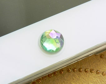 iPhone Home Button, iPhone Charm Sticker -  Green, White, Pink, Blue, Aqua, and Purple