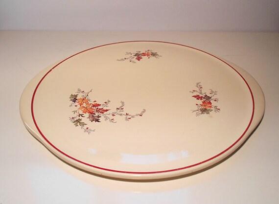 Vintage Art Deko Pottery Cake Plate by SunnysVintage on Etsy