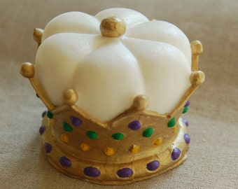 Mardi Gras Majestic Crown Decorative Soaps