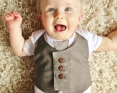 CUSTOM, pick your own colours, waistcoat and tie baby bodysuit, baby vest, boy one piece, baby wedding outfit, 1st birthday UK