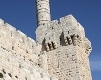 PASSOVER GIFT, Tower of David, the wall of Jerusalem on canvas
