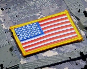 Full Color US Made Military Uniform Tactical Velcro USA Flag Patch