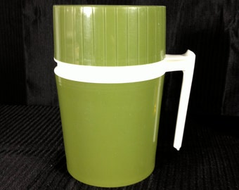 Vintage Green Thermos 10 oz
