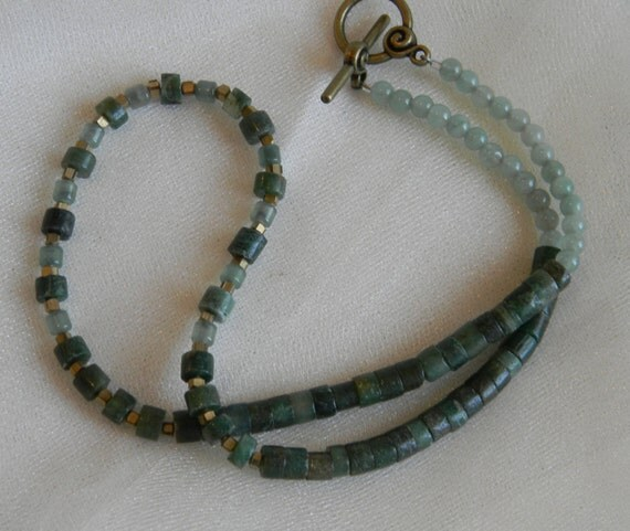 beaded s jade necklace jade nuggets w by thejademerchant