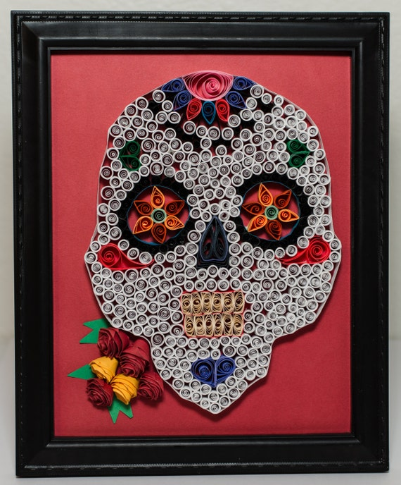 Day Of The Dead Wall Art day of the dead paper quilled wall art or dia de los muertos