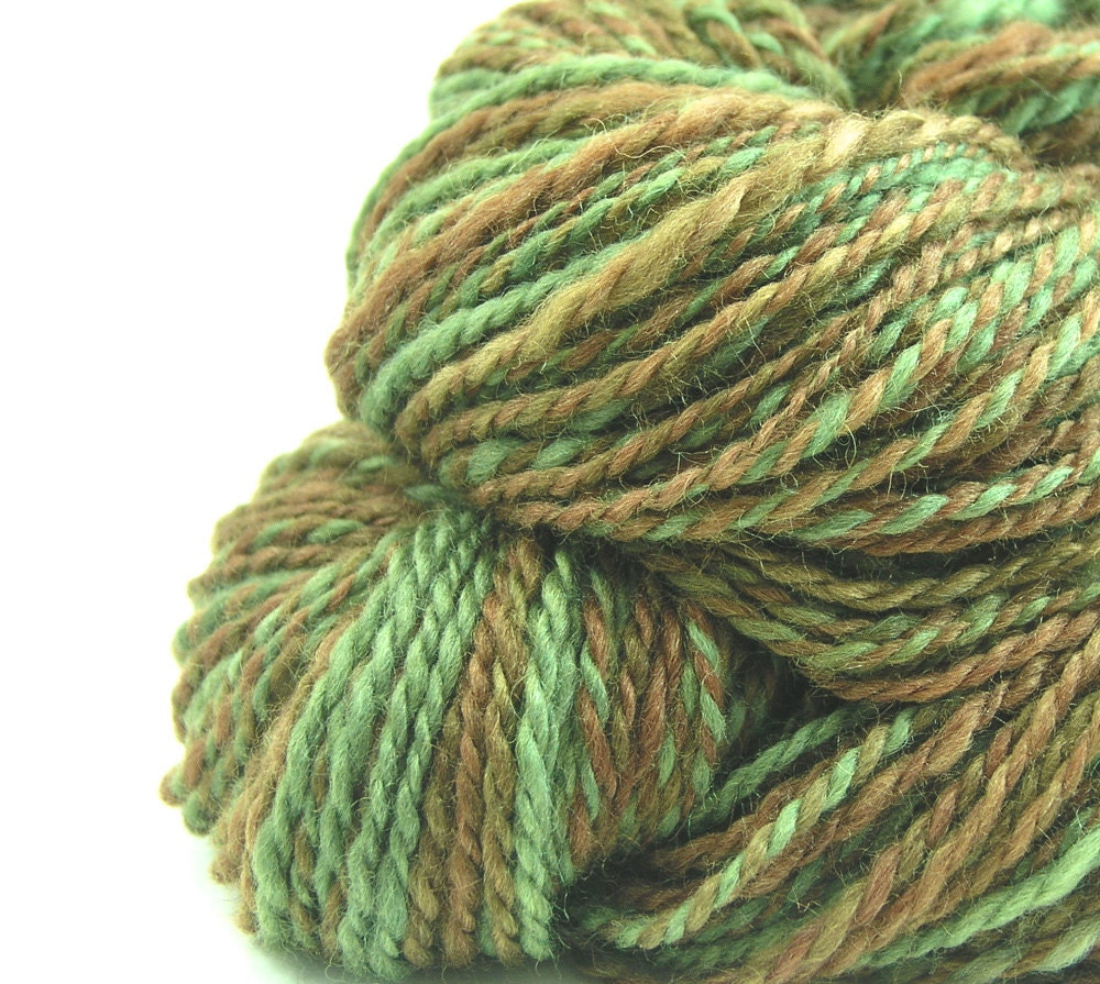 Worsted Weight Yarn : Handspun yarn BFL silk worsted weight two ply by TheSavvyStitch