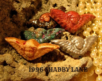 Handcrafted Polymer Clay Angel  Beads In A Vintage, Old World Style