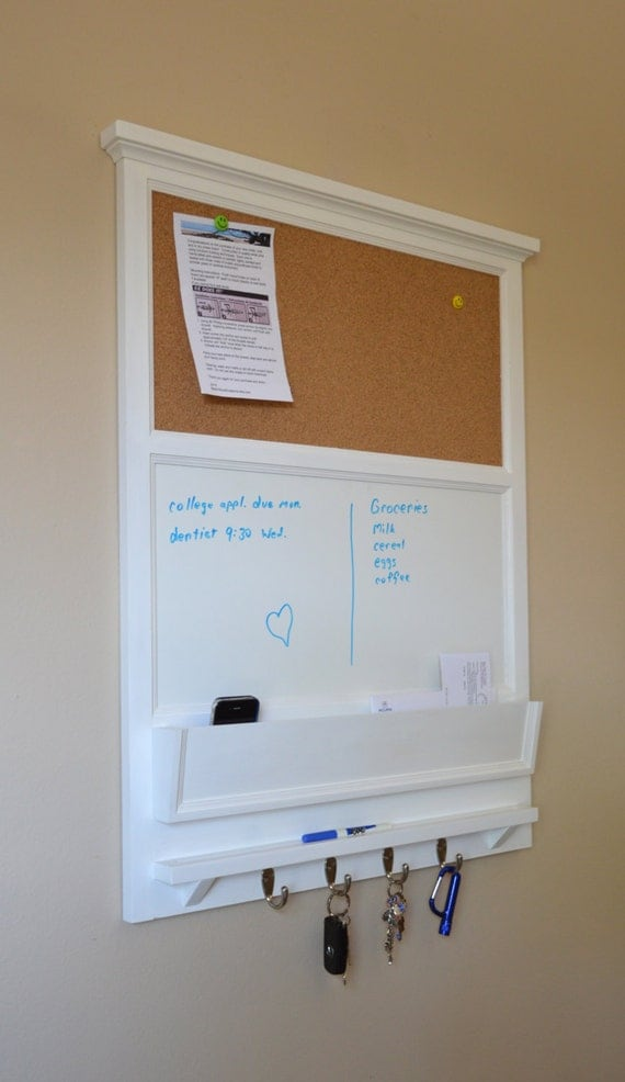 27 X 35 Tall Cork Board And Dry Erase Board With