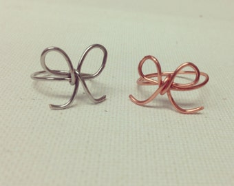 Dainty Bow Rings