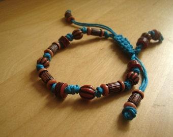 Macrame Retro Beaded Bracelet, with adjustible clasp