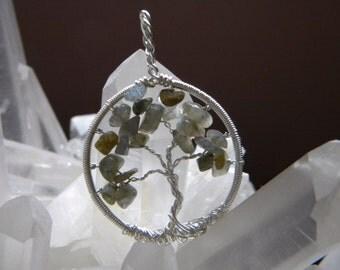 Handwrapped Labradorite Tree of Life- Reiki Charged