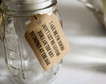 wedding mason jar tags Personalized gift tags Qty 25