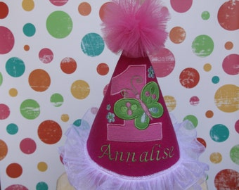 First Birthday Party Hat - 1st Birthday Hat - Birthday Party Hat  - Free Personalization