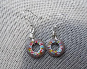Donut Washer Earrings