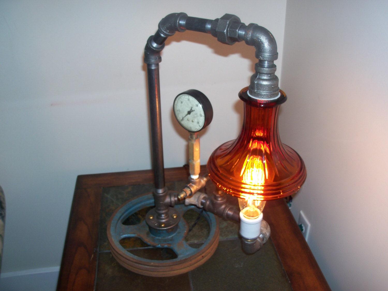 Black Iron Pipe Lamp