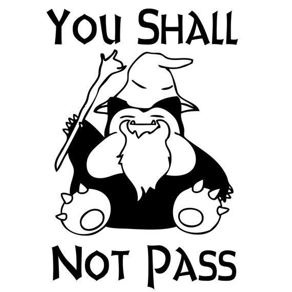 Assorted You Shall Not Pass Pokemon Snorlax by stickEdecals