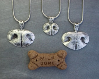 Dog Nose Print Necklace, Nose Print key chain, Custom Pet Nose Print Jewelry - Extra Large Nose Print