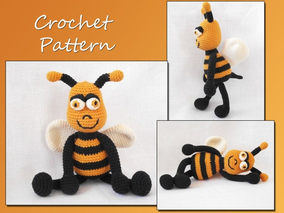 Amigurumi Crochet Pattern, Bee Crochet Pattern, Animal Crochet Pattern, CP-116