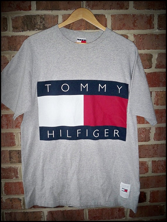 items similar to vintage 90 39 s tommy hilfiger original logo. Black Bedroom Furniture Sets. Home Design Ideas